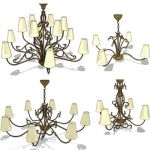Ranges of siecle chandeliers