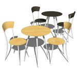 Adesso cafe table and chairs sets. Available in wo...