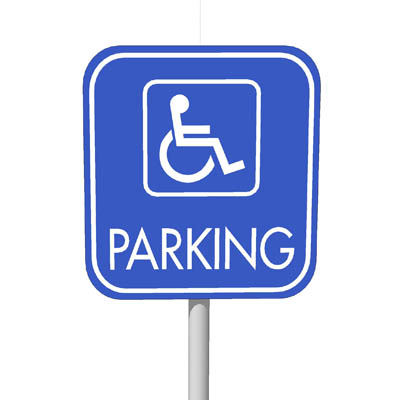 Disabled parking sign 24