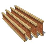 Standard wooden I-Joists with timber flange and 3/...