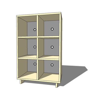 MD1 Modu-licious shelving unit by Blu Dot, powder ....