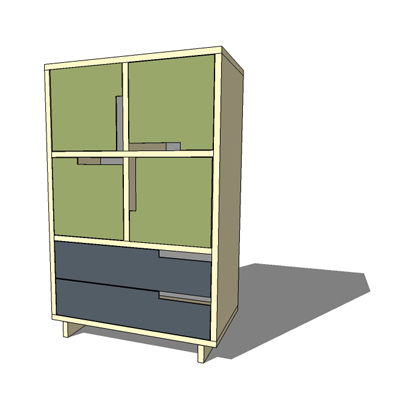 MD1 Modu-licious drawer and shelving unit by Blu D....