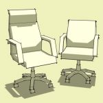 Archetype Lo-Poly Generic Desk Chairs. High Back M...